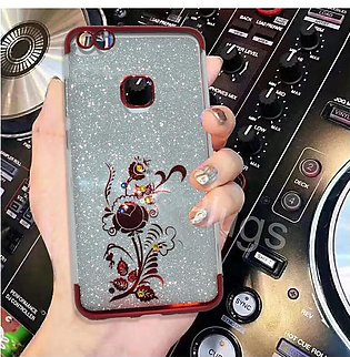 Huawei P10 Lite Beads Shiny Textured Mobile Back Cover - Red