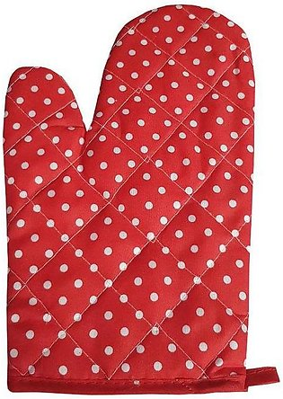 Polka Dots Red Oven Glove