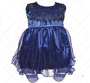 Fairy Frock Lace With Net Frill - Navy Blue
