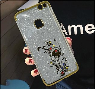 Huawei P10 Lite Beads Shiny Textured Mobile Back Cover - Golden