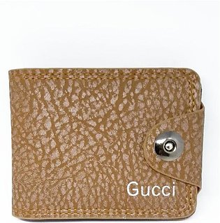 Gucci - Bifold Button Wallet 2 Side Open - Camel Brown