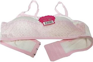 Aire Lace Padded Bra - Baby Pink