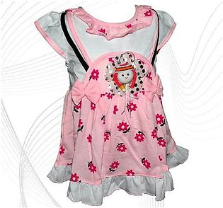 Doll Face Frock For Baby Girl - Pink