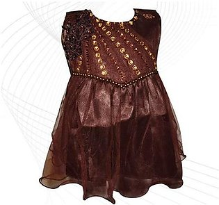 Fairy Frock Lace Bunch With Net Frill - Brown