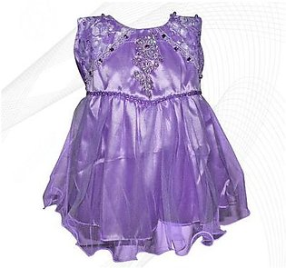 Fairy Frock Lace Bunch With Net Frill - Light Purple