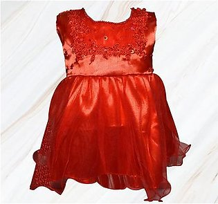Fairy Frock Lace With Net Frill - Red
