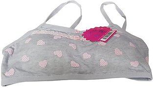 Aire Bra Hearts With Buttons Padded - Grey