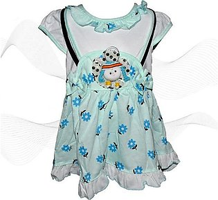 Doll Face Frock For Baby Girl - Sea Green