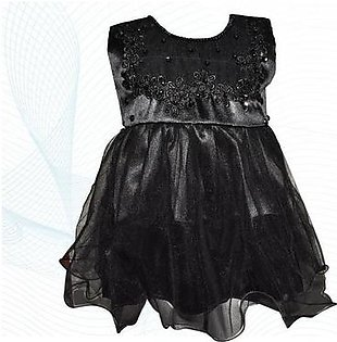 Fairy Frock Lace With Net Frill - Black