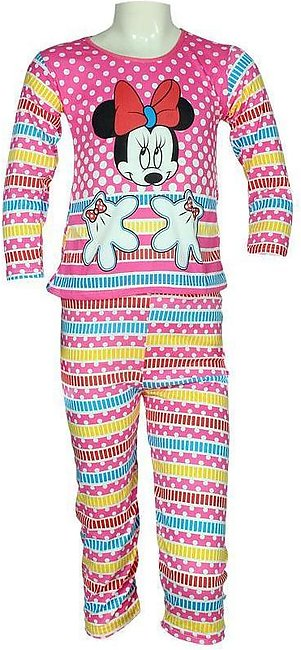 Pink Minnie Mouse Girls Night Suits