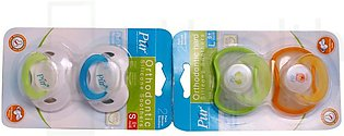 2 Packs of Day Time Pacifier M (Medium) with Orthodontic teat 1's-4017