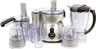 Gaba National GN-921 DLX 8 in 1 Food Processor Silver with Official Warranty ...