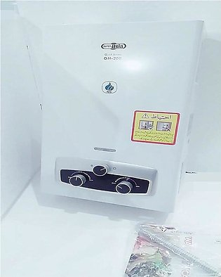 Super Asia Instant Gas Water Heater GH-208, Capacity 8Litres, Pure Copper Hea...