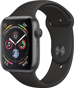 Apple Watch Series 4 MU6D2 44mm Space Gray Aluminum Case With Black Sport Band …