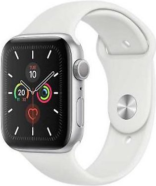 Apple Watch Series 5 MWVD2 44mm Silver Aluminum Case with White Sport Band