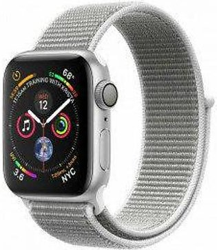 Apple Watch Series 4 40 mm Silver Aluminum Case with Seashell Sport Loop (GPS...