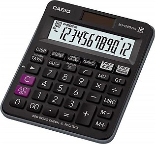 Casio MJ 120D Plus 300 Steps Check and Correct Desktop Calculator with Tax & GT…