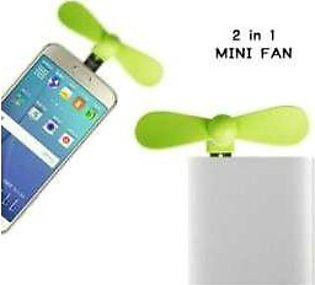 Mini 2 in 1 Portable Micro USB Fan for Samsung HTC Android OTG Smartphones USB …