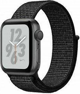 Apple Watch Series 4 Nike+ 40 mm Space Gray Aluminum Case with Black Nike Sport Loop (GPS) - (MU7G2LL/A)