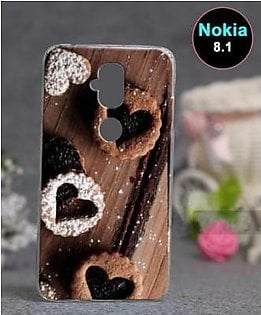 Nokia 8.1 Back Cover - Chocolate Cover