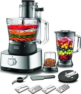 Black and Decker FX1050 4-in-1 Food Processor With Blender And Grinder 880W - S…