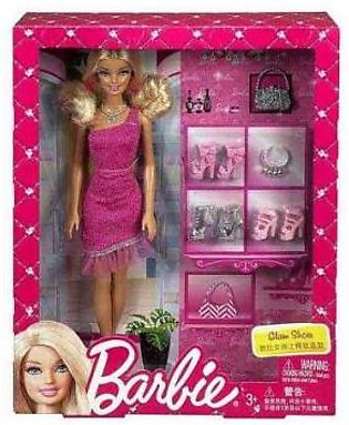 Mattel Barbie Doll Glam Shoes Set