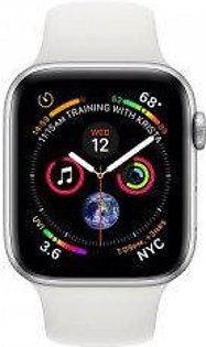 Apple Watch Series 4 MTVA2 -40mm GPS+Cellular Silver Aluminium Case With White Sport Band - Non PTA