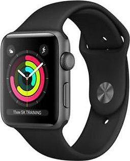 Apple Watch Series 3 MQL12 42mm GPS Gray Ceramic Case with Gray/Black Sport Band