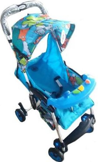 Baby Stroller 4 Wheel - Light Blue
