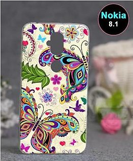 Nokia 8.1 Back Cover - Butterfly Cover (D2)