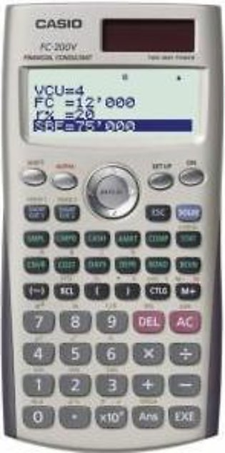 Casio FC-200V Financial Handheld Calculator