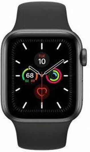 Apple Watch Series 5 40mm Space Gray Aluminium Case with Black Sport Band - S...