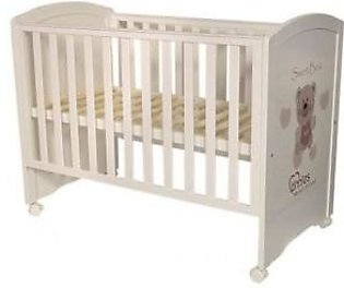 Baby Wooden Cot - White