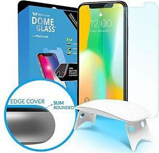 Whitestone iPhone X Glass Tempered Glass Screen Protector with UV
