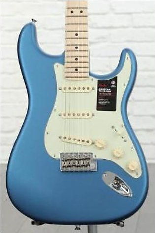 Fender American Performer Stratocaster - Satin Lake Placid Blue w/ Maple Fing...