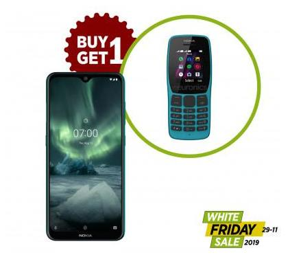 White Friday's Deals - Nokia 6.2 (Free: Nokia 110) With Official Warranty