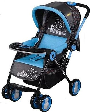Baby Stroller 4 Wheel - Black & Blue