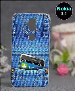 Nokia 8.1 Back Cover - Jeans Cover
