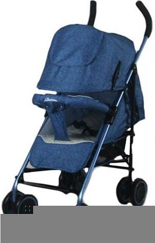 Baby Pram Buggy 4 Wheel Jeans Blue