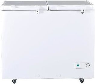 Haier HDF-325 i Inverter Twin DF Double Door Deep Freezer - White