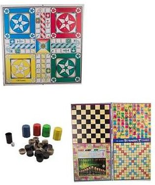 5 In 1 Ludo Board Game With Goti Pack