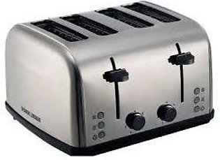 Black & Decker ET304 4-Slice Toaster Steel Body