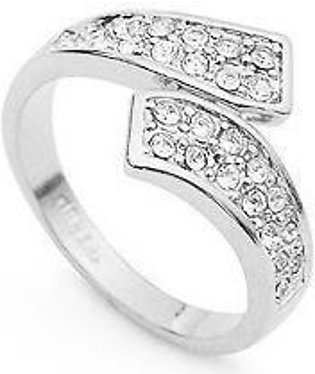 Cosmetic Fever ri-6411 18K White Gold Plated Ring