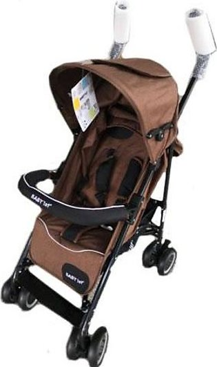 Baby Pram Buggy 4 Wheel Brown