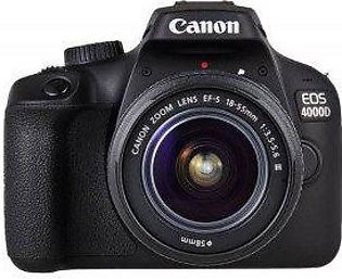 Canon EOS 4000D with EF-S 18-55mm Kit Lens (International Warranty)