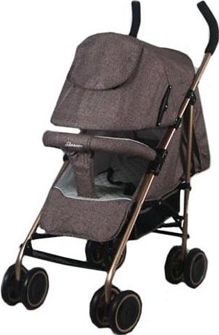 Baby Pram Buggy 4 Wheel Jeans Brown