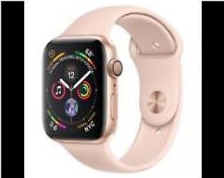 Apple Watch Series 5 GPS 44mm MWVE2 Gold Aluminium Case with Pink Sand Sport ...