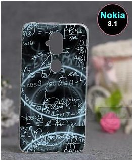 Nokia 8.1 Back Cover - Maths Cover