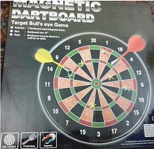 14 inch Hard Board Magnetic Dart Game for Kids