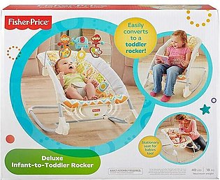 Fisher Price Deluxe Infant-to-Toddler Rocker Animal Kingdom